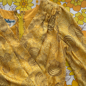 UNWORN Yellow Silk Maxi Dress PHOTO SHOOT AMAZING Vintage