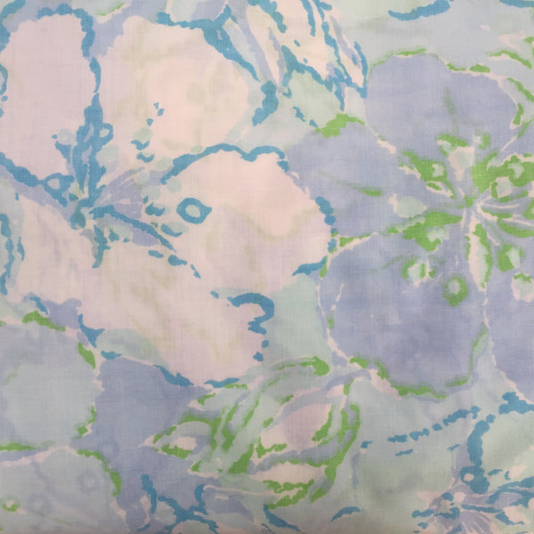 Cute Blue Vintage Sheet Cotton Craft Fabric Sewing Quilting
