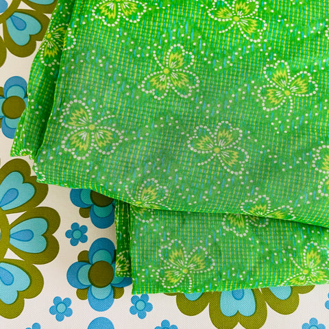 WENZEL Fabric Light Weight Cotton Vintage Beautiful Green