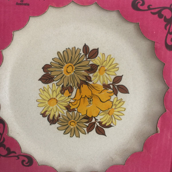 Johnson of Australia Plate Cake Server Tray RETRO FLORAL