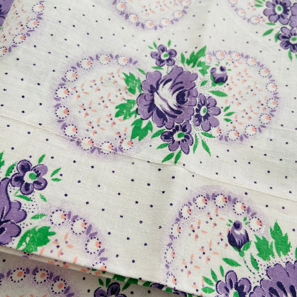 So Pretty UNUSED Vintage Pillow Cases PAIR Cotton