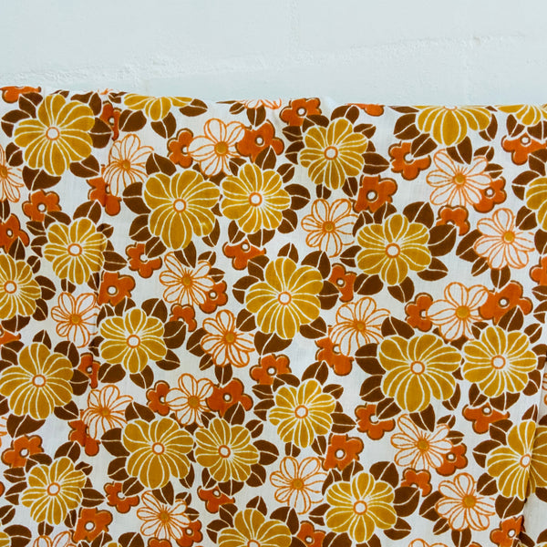 UNUSED Cotton Sheet FABRIC Brown New Old Stock Quilting