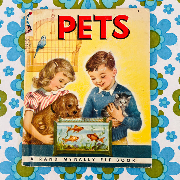 PETS Rand McNally Elf Book Vintage Retro Children's Bedroom