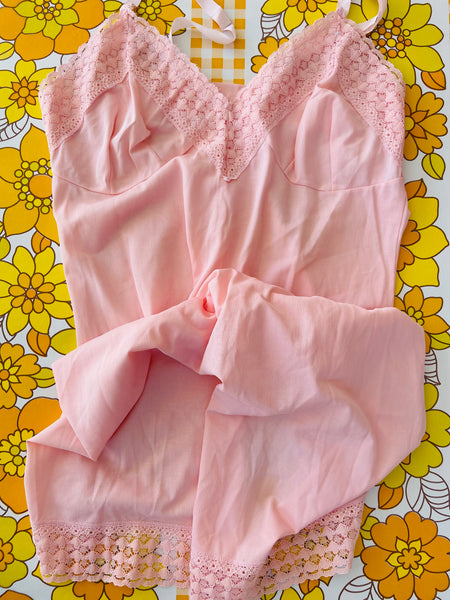 SWEETEST Little Pink Slip Lingerie 60's Chic VINTAGE