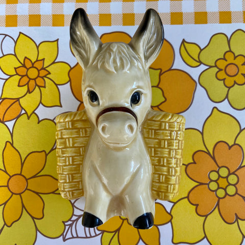 DONKEY Wall VASE Kitsch Mint Condition 70's RETRO Home
