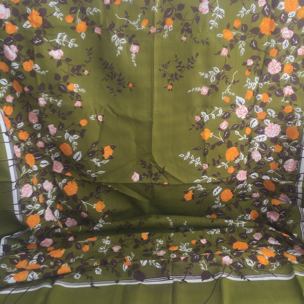 UNUSED Cotton Tablecloth RETRO Kitchen Home Floral Table