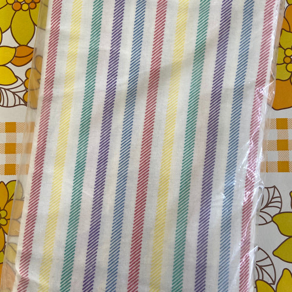UNUSED in Packet FLANNELETTE Sheet Candy Stripe RETRO Bed