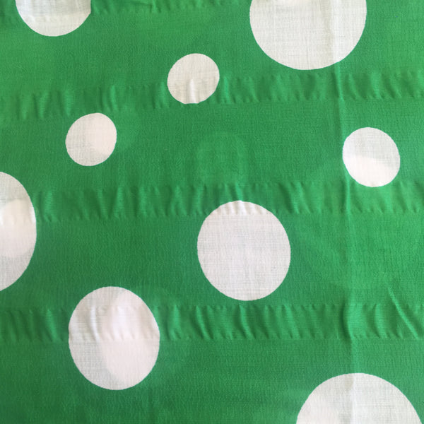 Cute Green & White Polka Dot Fabric ~ Vintage Sewing ~ BE CREATIVE!