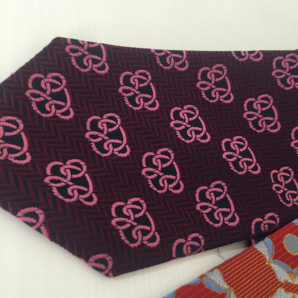 COOL RETRO VINTAGE MENS TIE 70'S HIGH QUALITY FUNKY - Pink Peacock  - 4