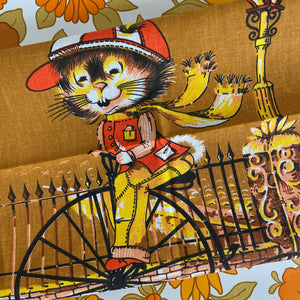 RETRO BIKE Tea Towel UNUSED Vintage Kitchen Wall Hanging