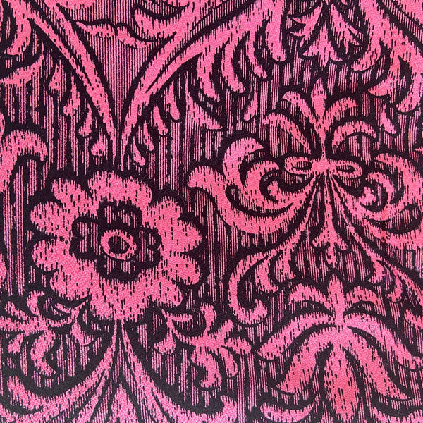 690cms HUGE High QUALITY Upholstery FABRIC RETRO Bright ink & Black FABRIC Cotton