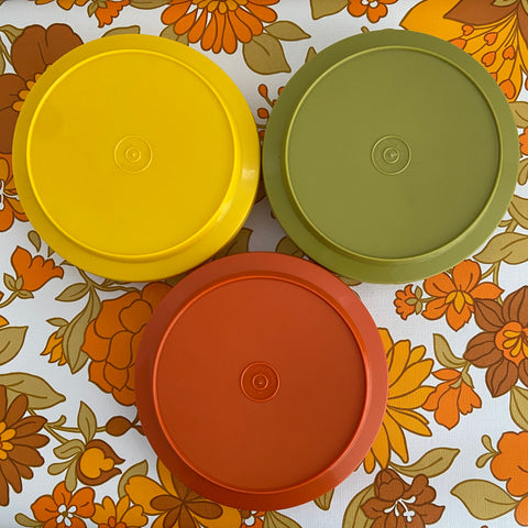THREE Vintage Retro Tupperware Containers 70's Kitchen