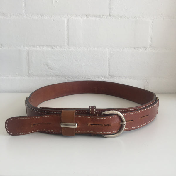 RUSTIC BROWN UNISEX BELT VINTAGE COWBOY HIPPY BOHO THRASHED
