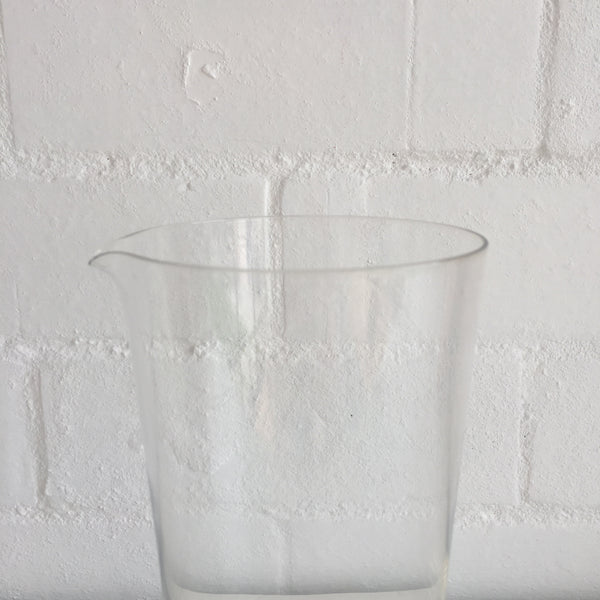 PEILL Vintage GERMAN GLASS PITCHER 8inches Tall Table Dining Kitchen COLLECTABLE