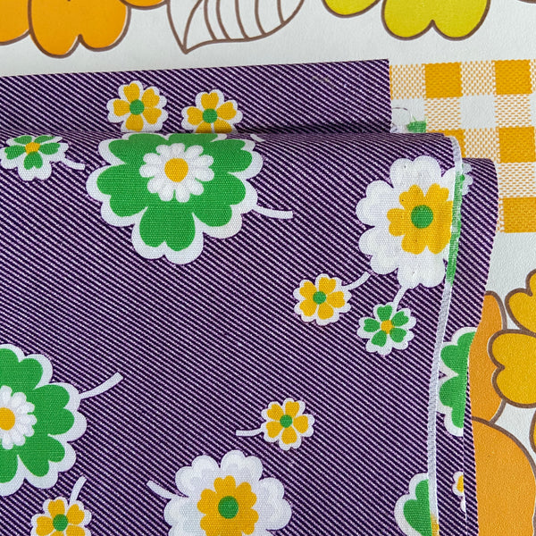 150cms Cotton 70's FUNKY Retro FABRIC Awesome Bright Beautiful