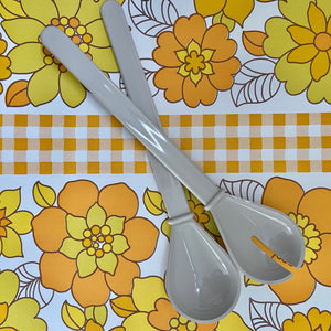 Decor Salad Servers VINTAGE Mid Century Home Retro Kitchen