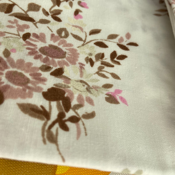 Pillow CASE Unused Old Stock Cotton Floral Retro BED