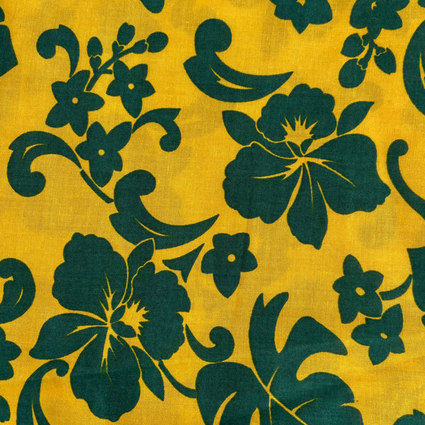 Vintage Hawaiian Cotton FABRIC Large BOLD Pattern