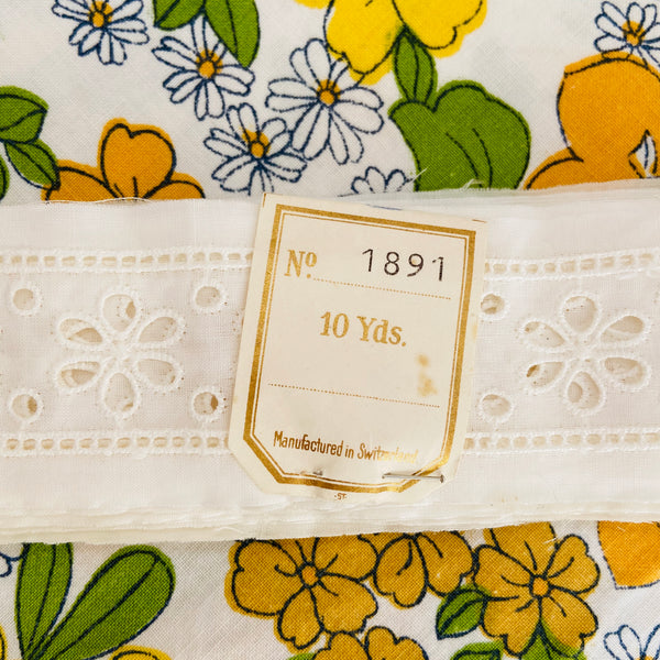 Vintage Embroidered RIBBON Switzerland 10 yds CRAFT
