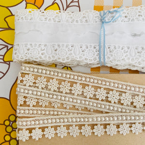 CUTE Vintage Ribbon & Lace Delicate CRAFT Sewing