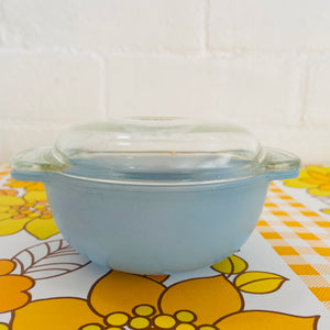 Collectable VINTAGE Retro PYREX MINI Casserole DISH Blue