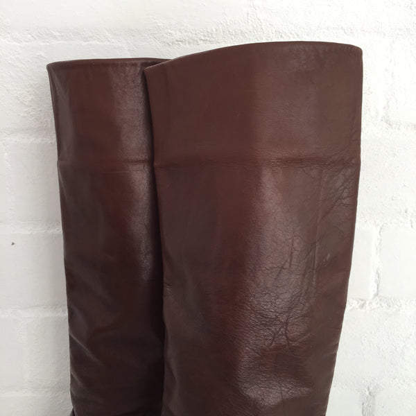 COOL Vintage Genuine LEATHER Boots Made in ITALY size 37