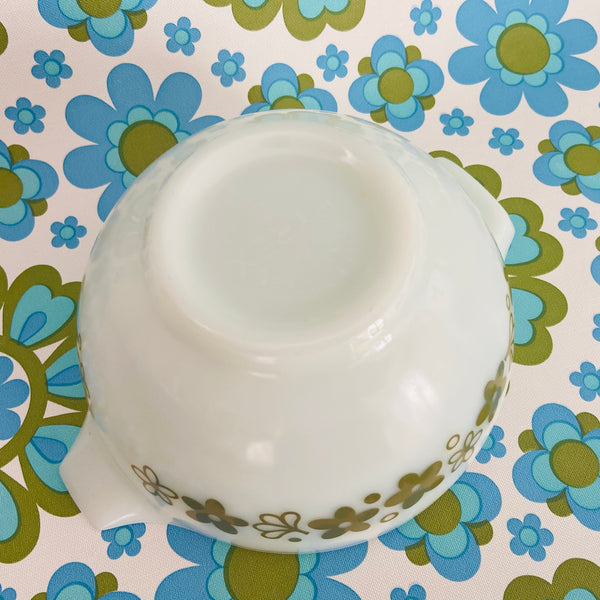 PYREX Green Floral Small Mixing Bowl RETRO