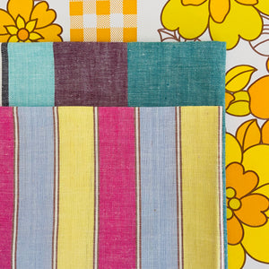 Cute Pair of Vintage Striped Tea Towels YUMMY Colours