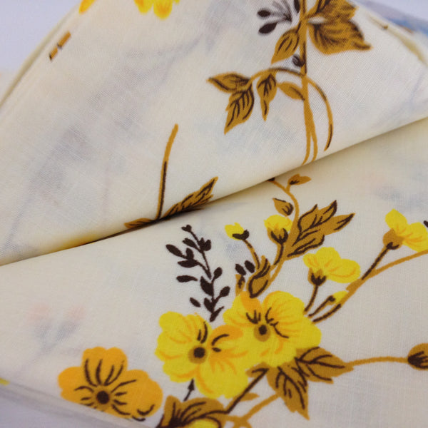 Two Brand New VINTAGE 100% Cotton Floral Pillow Cases Yellow - Pink Peacock  - 2