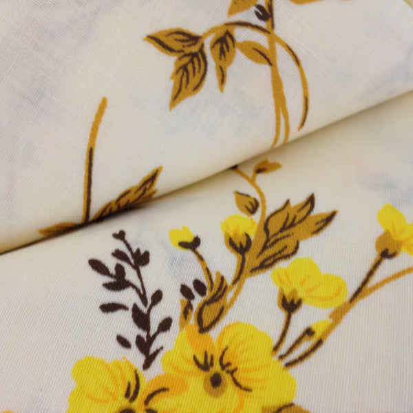 Two Brand New VINTAGE 100% Cotton Floral Pillow Cases Yellow - Pink Peacock  - 3