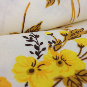Two Brand New VINTAGE 100% Cotton Floral Pillow Cases Yellow - Pink Peacock  - 1
