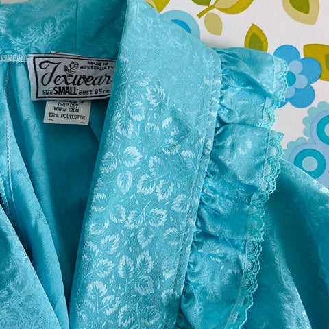 Made in Australia Vintage Blue Dressing Gown PRETTY