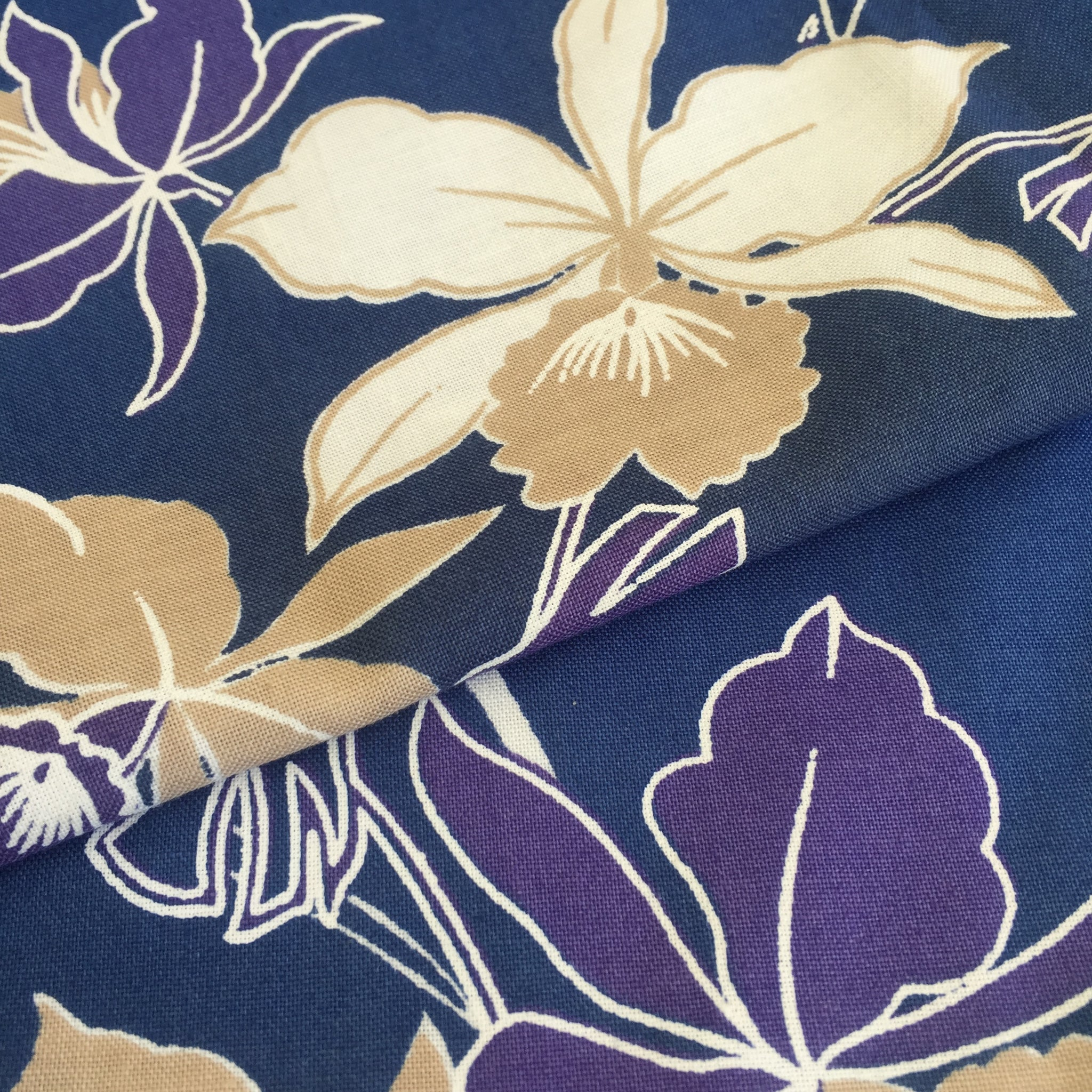 HAWAAIN FLORAL 100% Cotton FABRIC 2 Metres 112cms width UNSUED Vintage PRINT