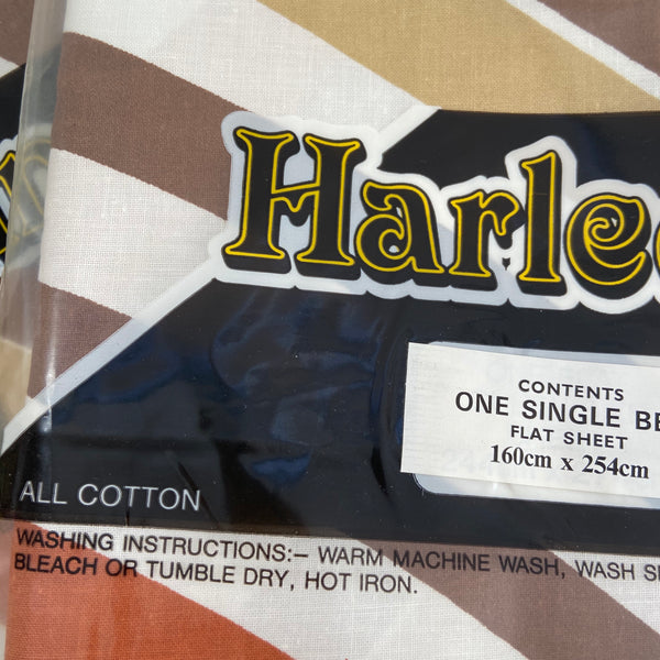 Harlequin VINTAGE Unused Cotton Sheets RETRO 70's