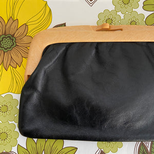 MADE in ITALY Vintage Clutch Handbag LEATHER