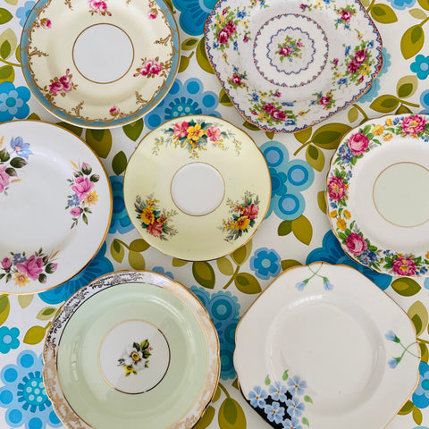 Cute Lot of Mismatched China Plates Great Condition Afternoon Tea