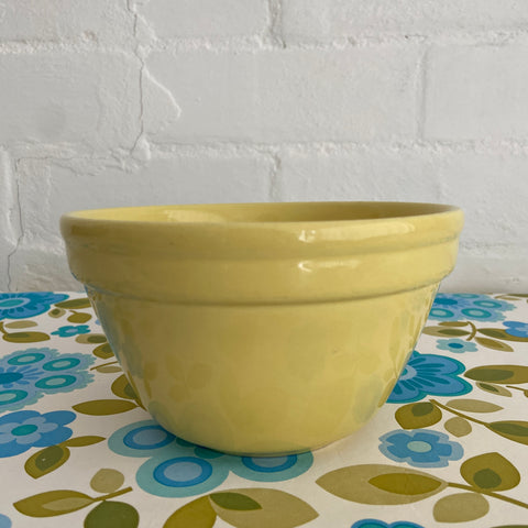 FOWLER Ware Yellow Bowl VINTAGE Kitchen Country