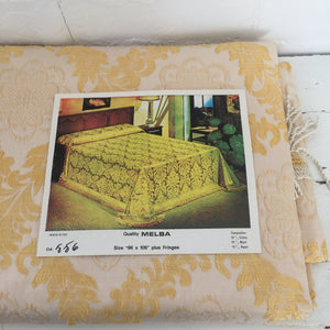 VINTAGE UNUSED In Packaging Bedspread QUILT Brocade Paris Apt