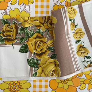 RETRO 70's Table Cloth Caravan Cotton Fabric