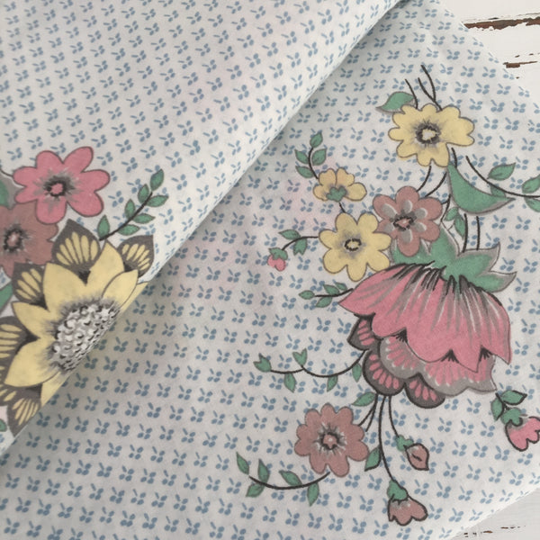 Beautiful Fresh Crisp Cotton Sheet Floral Print FABRIC Single