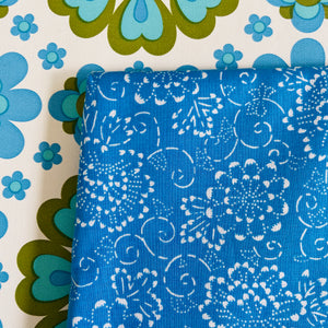 Pretty Blue Cotton Fabric CRAFT Sewing Quilting