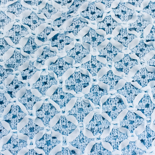 Beautiful Vintage Blue Lace Fabric Ribbon Lace SEWING Dress Making