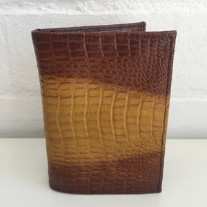 COOL Mens Wallet As new Brown Textured APPLE Leather Embossed