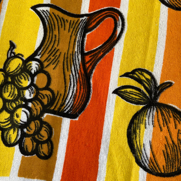 Pair of UNUSED retro Tea Towels BRIGHT Retro Set