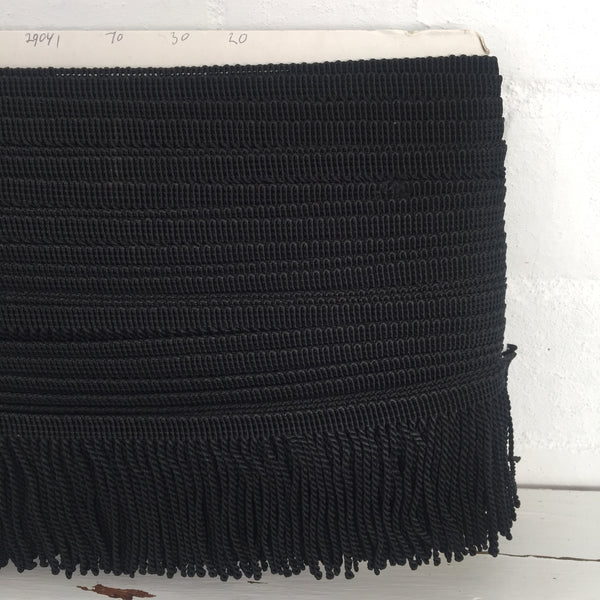 Vintage Black Fringe Large Roll Sewing Craft Projects