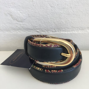 VINTAGE New Belt BOHO Pattern TRIM Genuine LEATHER with TAG