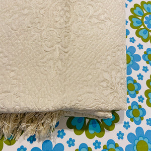 UNUSED Vintage Cream Brocade Italian Bedspread GLORY BOX