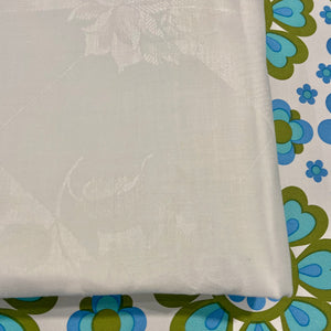 UNUSED Damask Linen Table CLOTH Antique Glory BOX