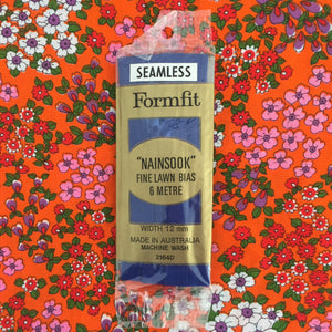 Seamless BIAS Sewing Quilting Dark Blue Nainsook Fine Lawn