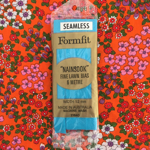 Seamless BIAS Sewing Quilting BLUE Nainsook Fine Lawn